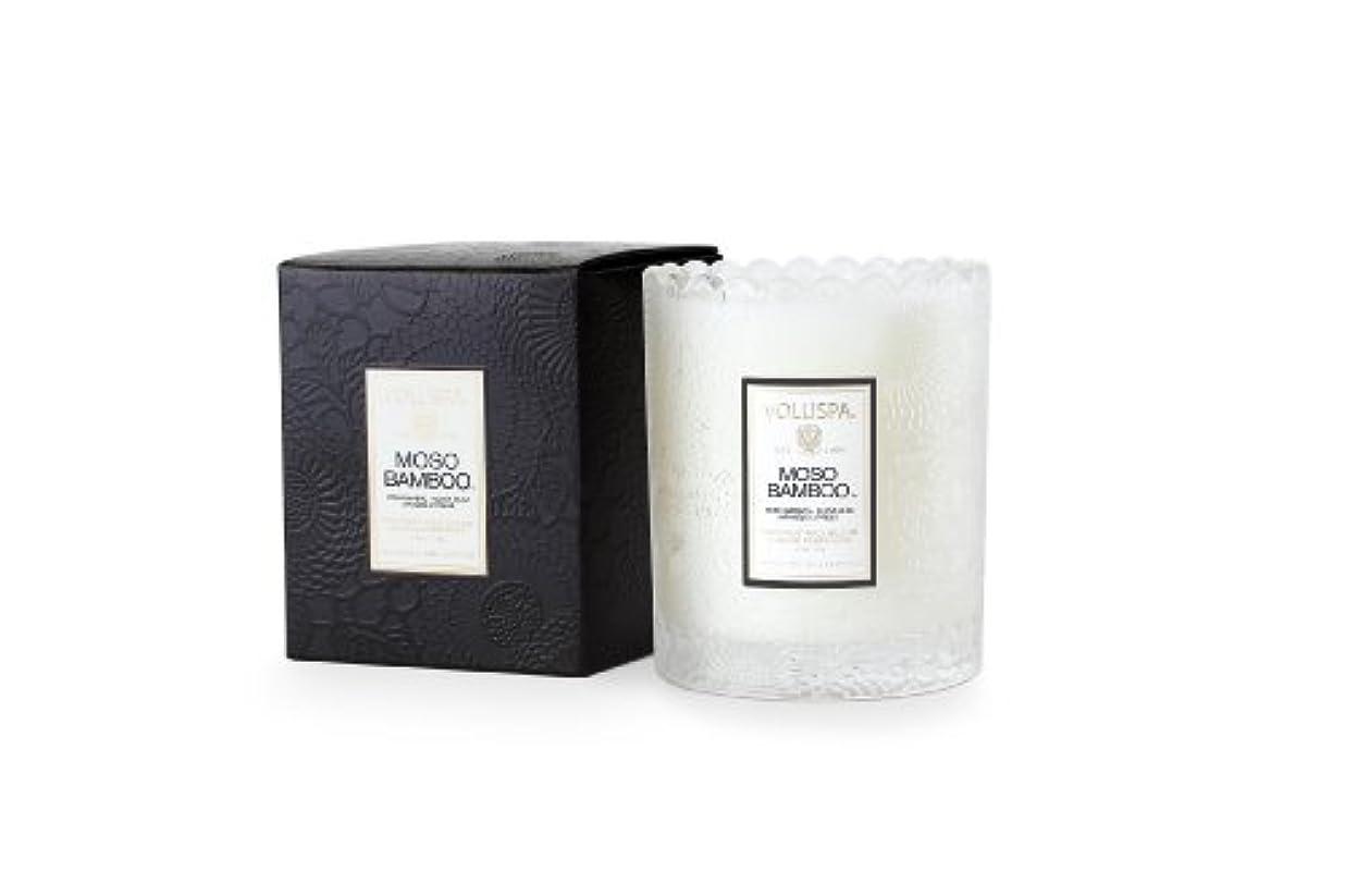 前提条件ワイン悲観主義者Voluspa ボルスパ ジャポニカ スカラップグラスキャンドル モソ バンブー JAPONICA Glass Candle MOSO BAMBOO