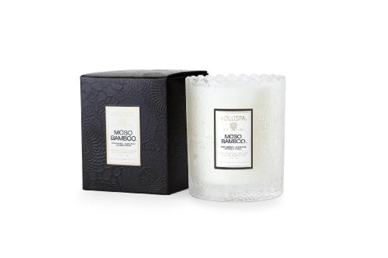 Voluspa ボルスパ ジャポニカ スカラップグラスキャンドル モソ バンブー JAPONICA Glass Candle MOSO BAMBOO