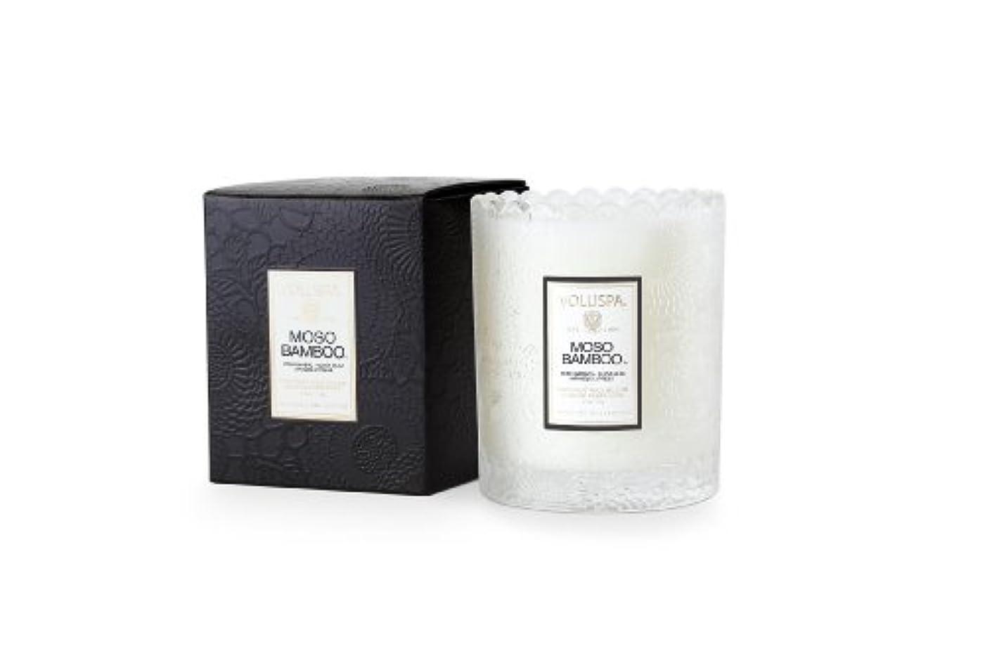 優先弓教科書Voluspa ボルスパ ジャポニカ スカラップグラスキャンドル モソ バンブー JAPONICA Glass Candle MOSO BAMBOO