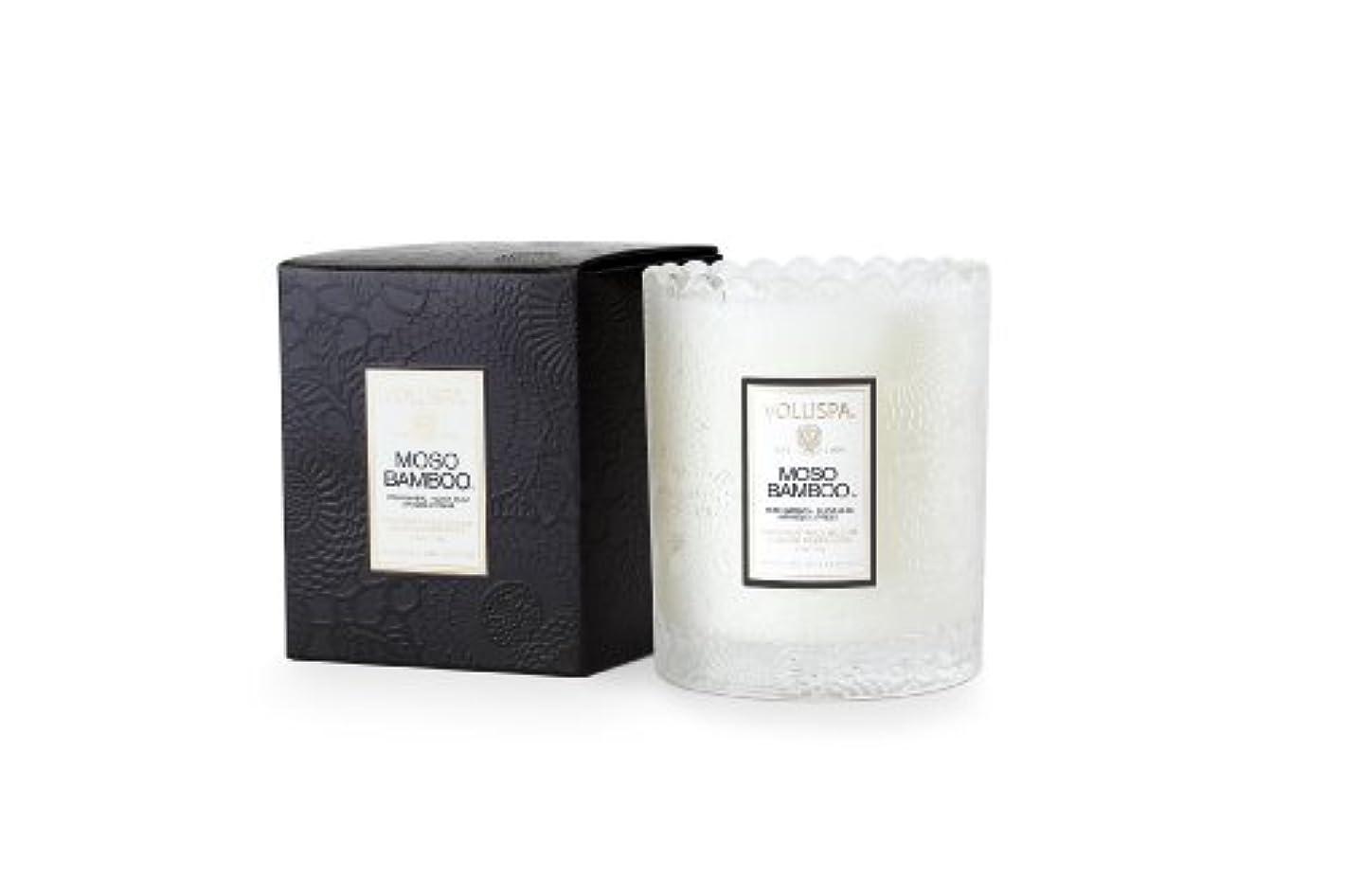 宿泊施設限定腐敗Voluspa ボルスパ ジャポニカ スカラップグラスキャンドル モソ バンブー JAPONICA Glass Candle MOSO BAMBOO