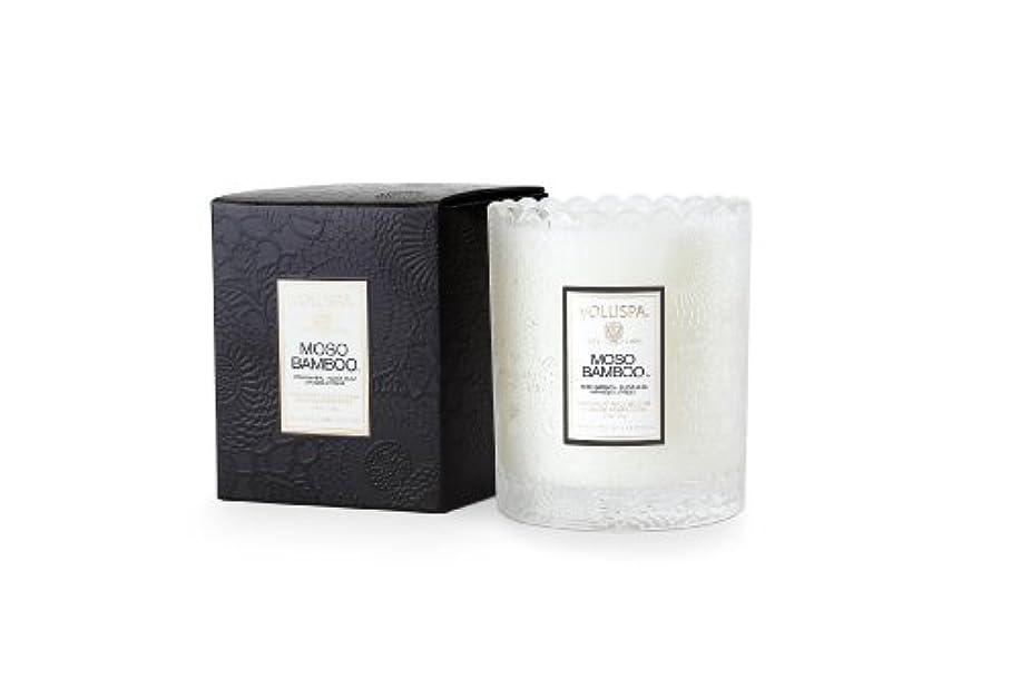 出発繁殖シビックVoluspa ボルスパ ジャポニカ スカラップグラスキャンドル モソ バンブー JAPONICA Glass Candle MOSO BAMBOO