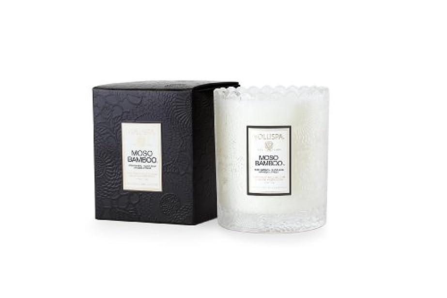 あらゆる種類のごちそう恒久的Voluspa ボルスパ ジャポニカ スカラップグラスキャンドル モソ バンブー JAPONICA Glass Candle MOSO BAMBOO