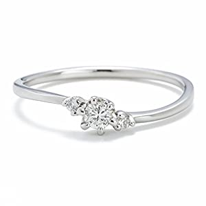 [キャーロ ディ ディアマンテ] CHIARO DI DIAMANTE プラチナ900 ダイヤモンドリング
