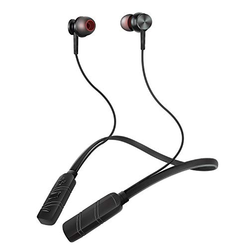 進化版 Bluetooth イヤホン スポーツ ワイヤレス イヤホン HI-FI高音質 超軽量 14時間連続再生 マグネット IPX6防水人間工学設計 マグネット搭載 CVC6.0ノイズキャンセル ブルートゥース イヤホン スポーツイヤホン Bluetooth ヘッドホン iPhone Android対応 (ブラック)