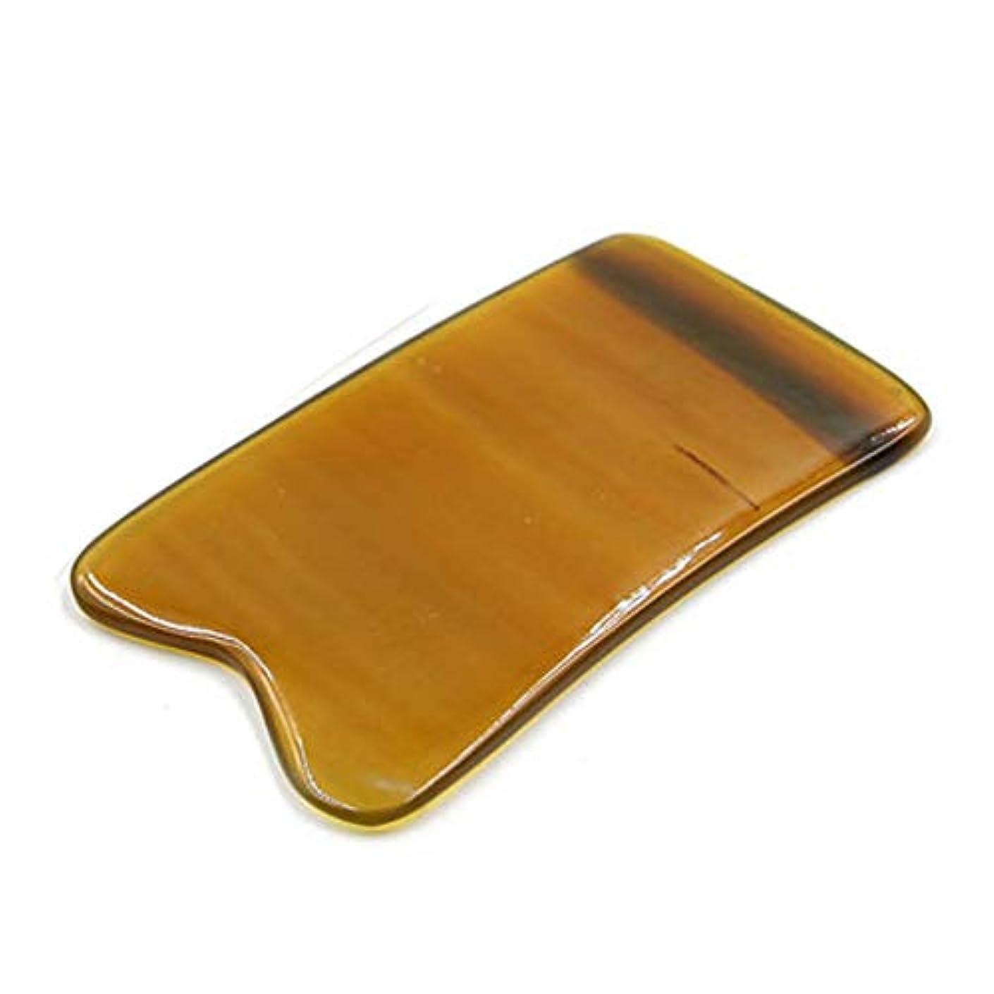 確立大腿娘MUOBOFU 天然ヤクの角製 カッサ?マッサージ?美容器 四角形?多用スクレーパー