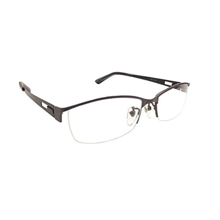 メタルフレーム メガネ X 0442-3(55)ダークグレー&ブラック