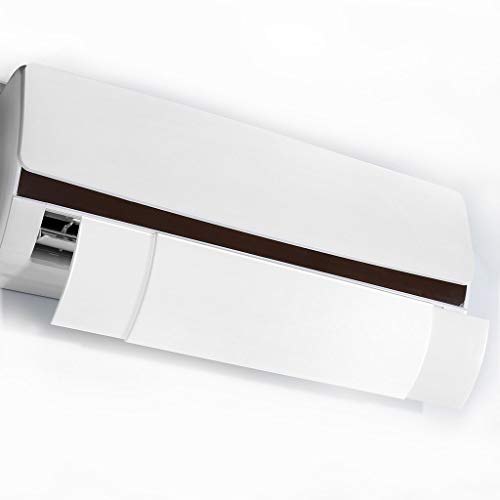 LANGRIA エアコン風よけカバー エアコン風向き調整板 オフィス エアコン 風よけ エアコン 吹き出し口 風よけ オフィス 家庭用 落下防止 軽量 取り付け簡単 上下角度調整可能 冷房暖房通用 両面テープ装着 伸縮式 すべてエアコン機種対応 部屋の寒さ対策に