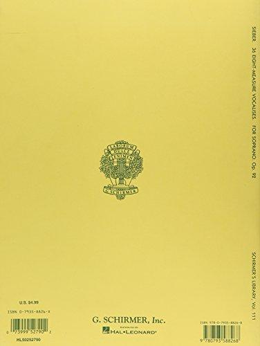 『36 Eight-measure Vocalises, Op. 92: Sheet Music』の1枚目の画像