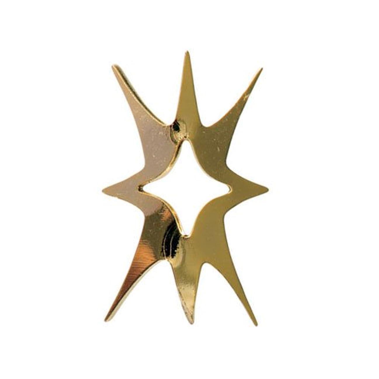 スキムスプリット星リトルプリティー ネイルアートパーツ キラキラ1 SS ゴールド 10個