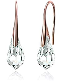 MESTIGE Crystal Drop Dangle Earrings in Rose Gold with Crystals from Swarovski®, Gift