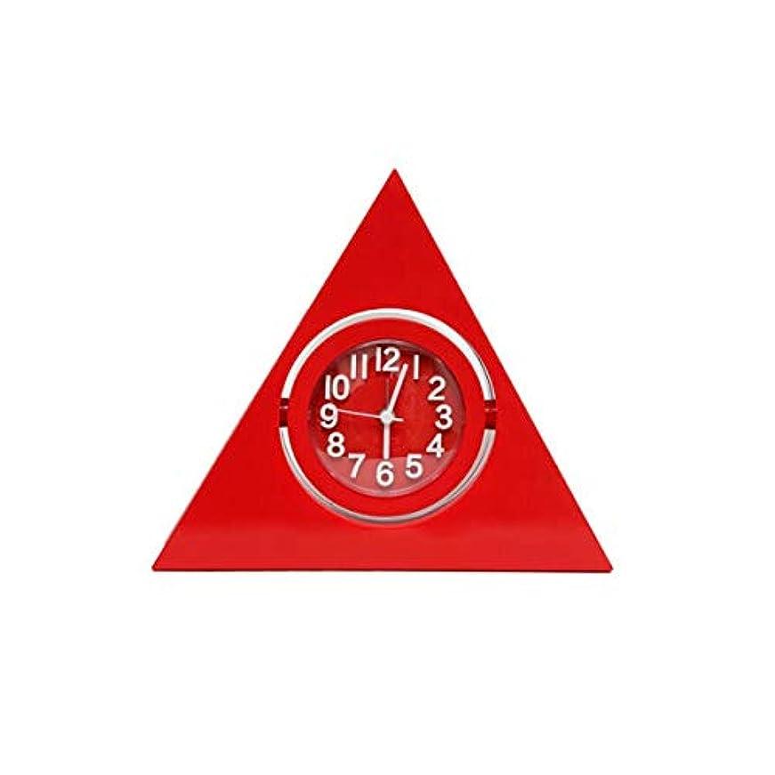 法的たらい傘Kaiyitong001 目覚まし時計、クリエイティブ学生用時計、寝室のベッドサイドテーブル、置時計、スタイリッシュな三角時計、リビングルーム、サイレントクロック、青 (Color : Red)