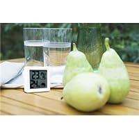 (まとめ) DRETEC 温湿度計 熱中症 インフルエンザの危険度を表示する 小さいデジタル温湿度計