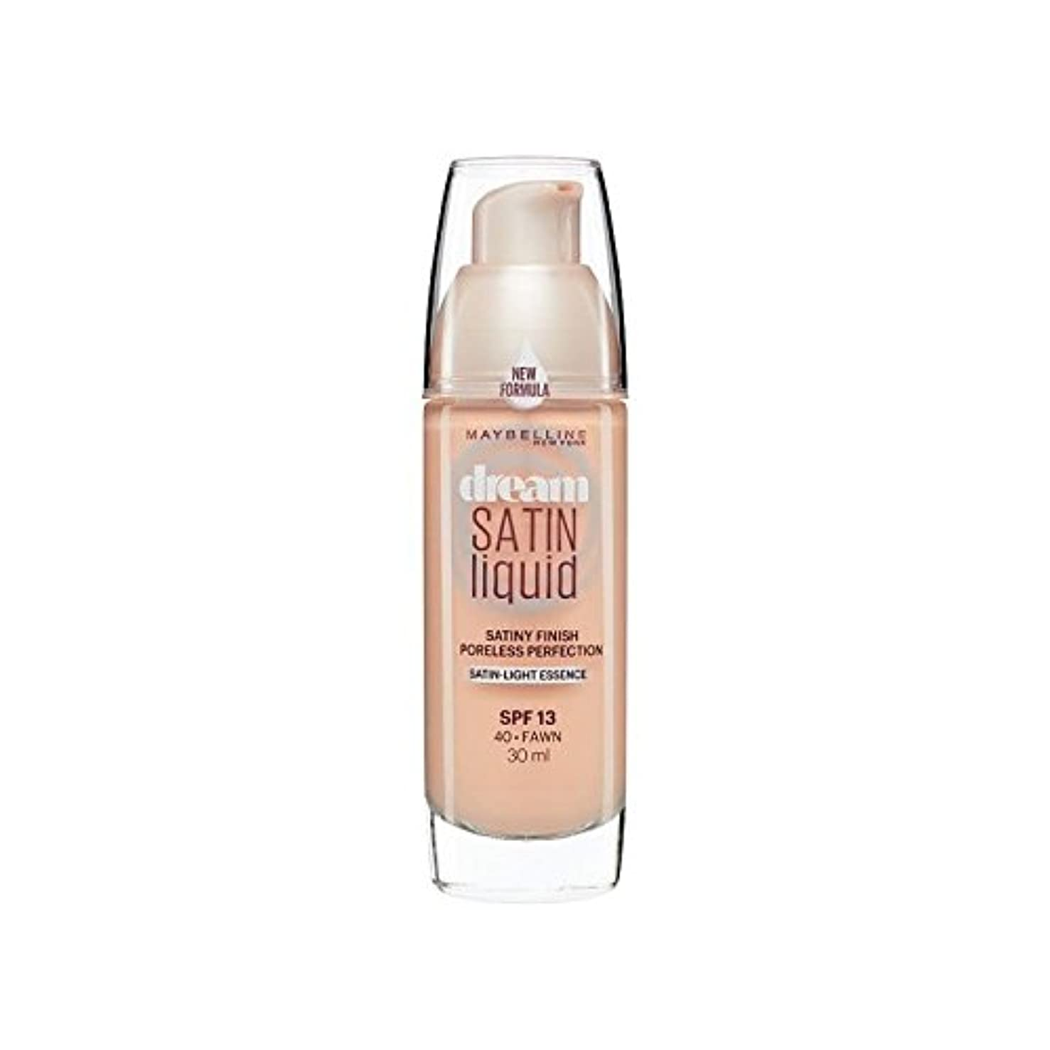 ツール人気の軽蔑するMaybelline Dream Satin Liquid Foundation 40 Fawn 30ml (Pack of 6) - メイベリン夢サテンリキッドファンデーション40子鹿の30ミリリットル x6 [並行輸入品]