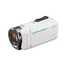 JVC KENWOOD JVC ビデオカメラ EVERIO 防水 防塵 内蔵メモリー32GB ホワイト GZ-R300-W