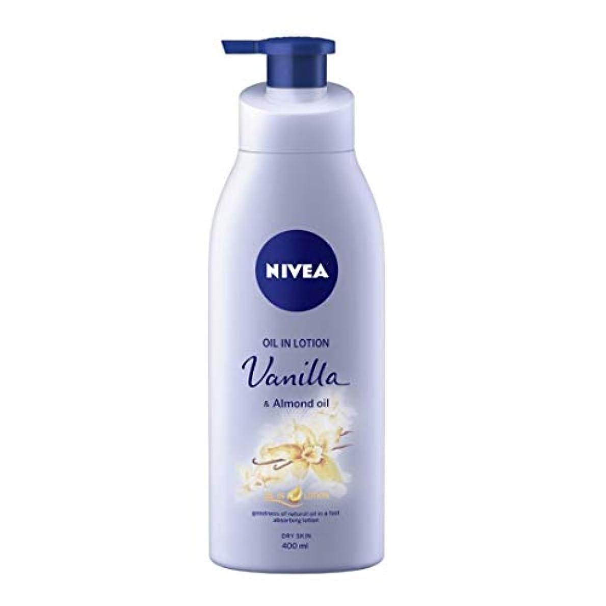 オフセット廊下台風NIVEA Oil in Lotion, Vanilla and Almond Oil, 400ml