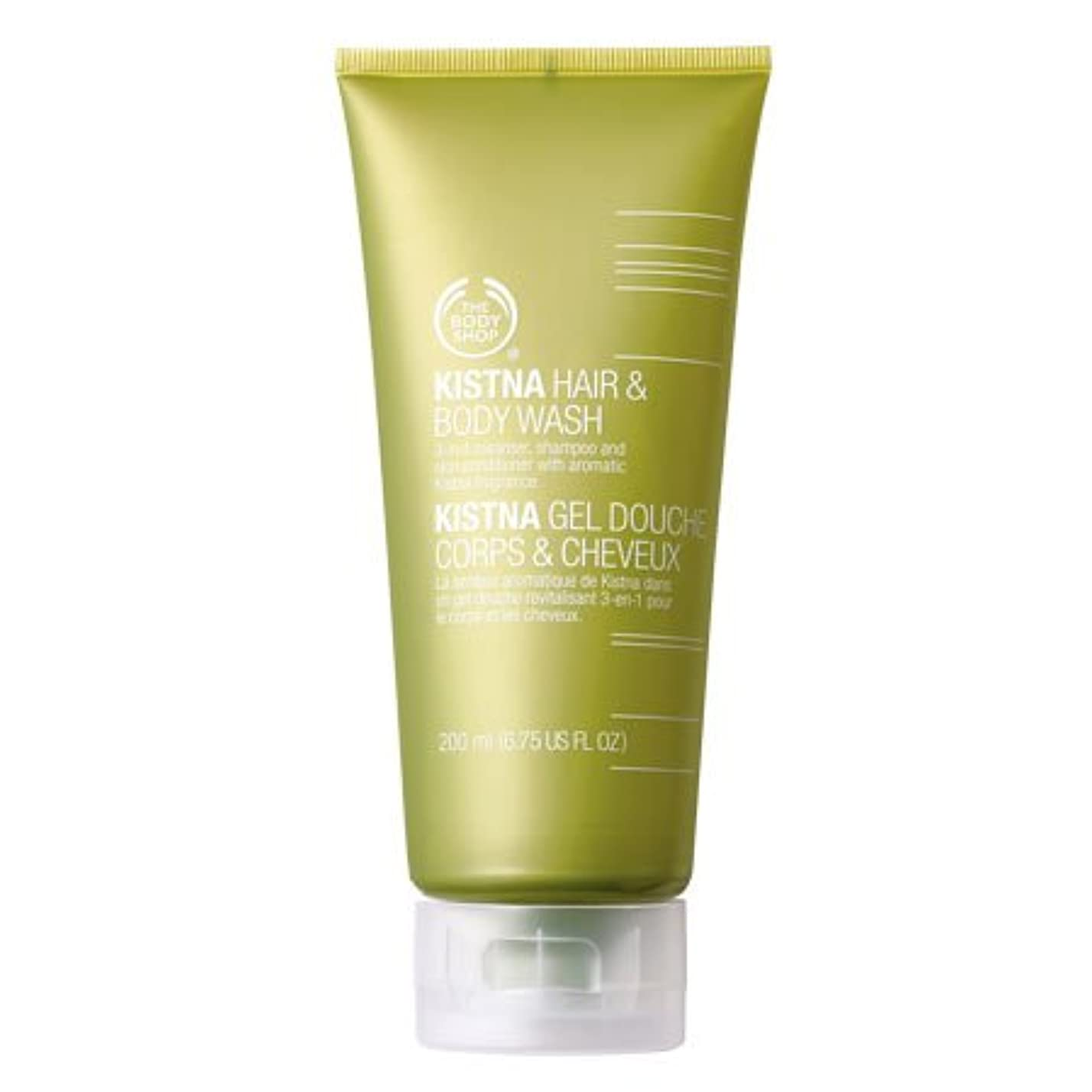 試す印をつけるスタックThe Body Shop Kistna Hair & Body Wash - 6.75 Fl oz(200ml)