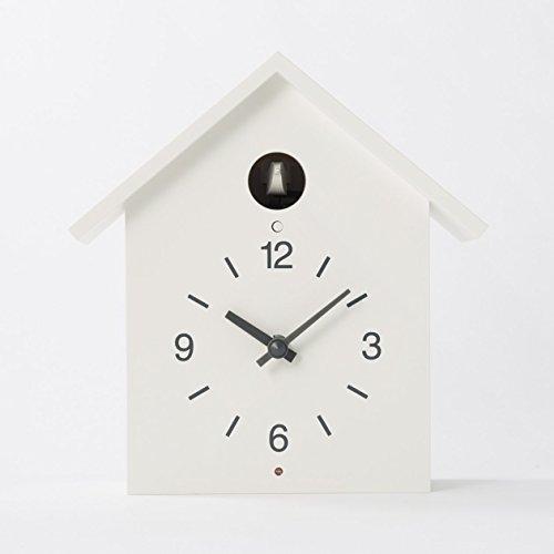 鳩時計・大 掛置時計・ホワイト 無印良品 -