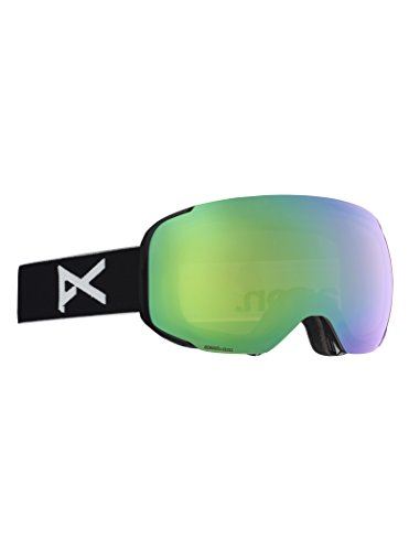 Anon(アノン) スノーボード スキー ゴーグル メンズ M2 MFI ASIAN FIT WITH SPARE 2018-19年モデル BLACK/SONAR GREEN