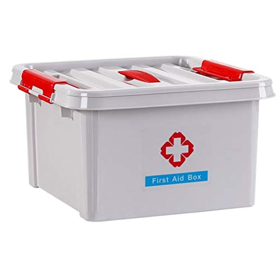 スパークキャラバンミサイルLLSDD 取り外し可能なプラスチック製のクラフト収納ボックスオーガナイザー医療ボックスホーム付きポータブル収納ボックス (Color : Gray)