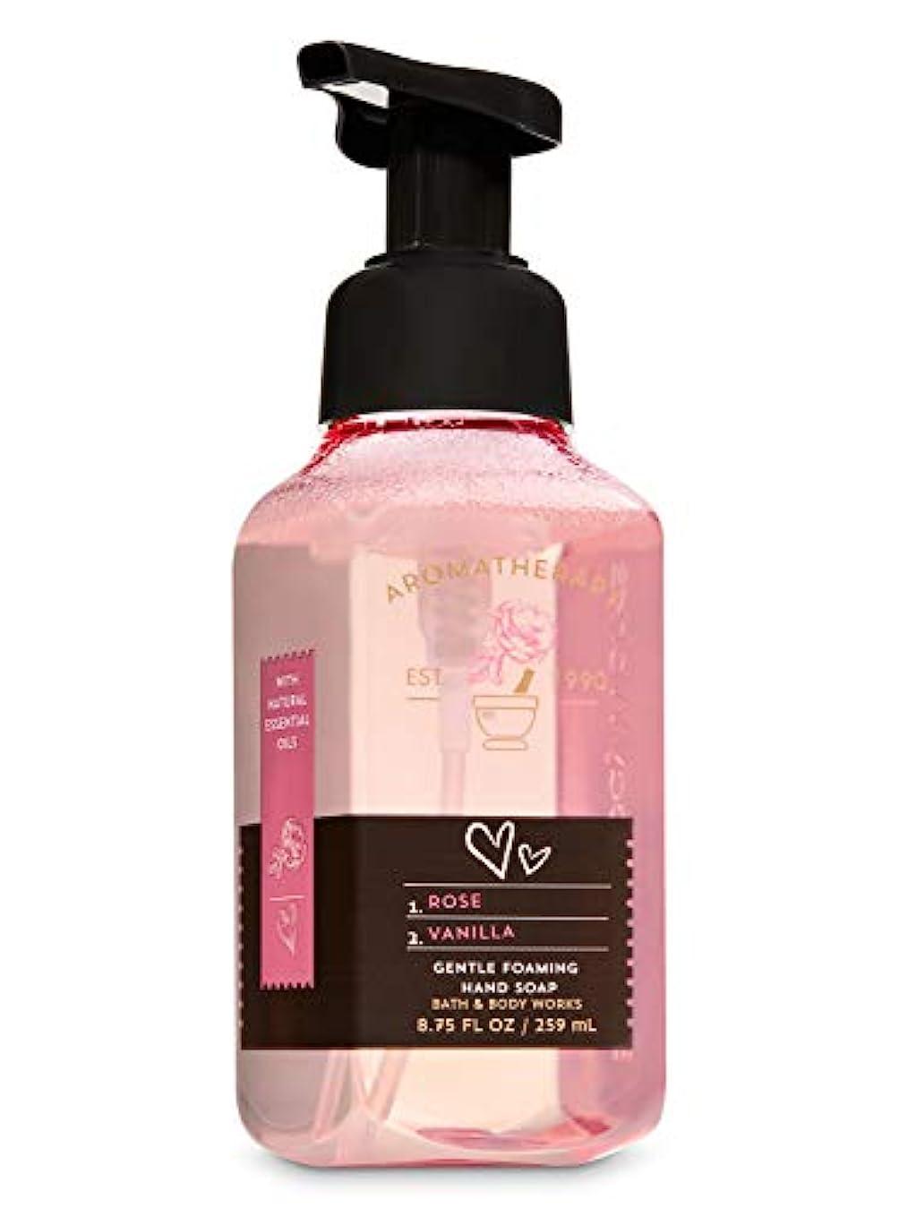 情熱真実副バス&ボディワークス アロマセラピー ラブ ローズ&バニラ ジェントル フォーミング ハンドソープ Aromatherapy Love Rose & Vanilla Gentle Foaming Hand Soap
