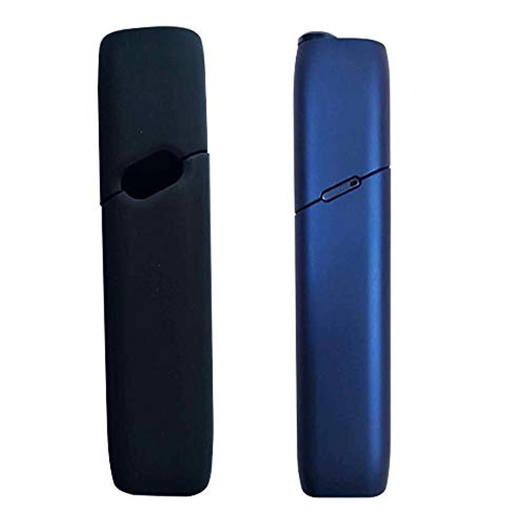 ウィザードトマト許されるkutsukage IQOS 3.0 MULTI アイコス マルチ 3 ケース つけたまま充電可 シリコン カバー 軽量 保護 洗える (ブラック)