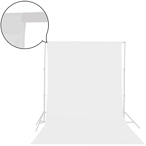UTEBIT 背景布 白 超厚手 180 x 280 cm 背景紙 透かず 厚地 1KG 無地 白 布 生地 写真撮影用 背景スタンド 適用 布バック 撮影 背景 ホワイト 綿100% スタジオ用 無反射 先端袋縫い加工 バックペーパー 洗濯可 折りたたみ