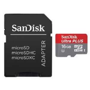 サンディスク ウルトラ プラス microSDHC UHSーI カード 16GB SDSDQUPN-016G-J35A 1枚