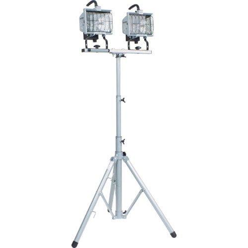 日動工業 ハロゲン投光器 ハロスター500 100V 500Wハロゲン 二灯三脚式 HS-500LW 1台 325-0067
