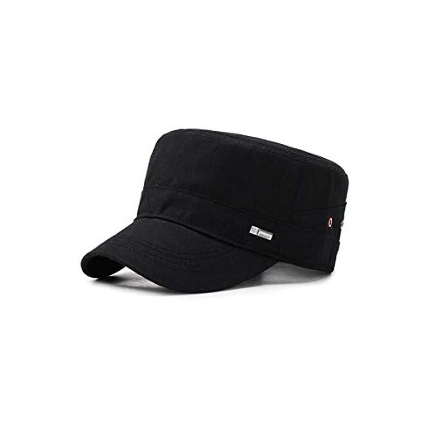 些細ベーカリーゲート8haowenju 帽子、中年のフラットトップミリタリーキャップ、アウトドアスポーツキャップ、ブラック/ブルー/カーキ11 * 6.5CM、周囲長56-60CM、おじいちゃんのための完璧な贈り物 若い大人に適しています