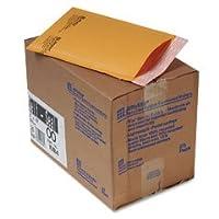 Sealed Air Jiffylite self-seal Mailer、サイドシーム、# 00、ゴールデンブラウン、25/カートン4ケース