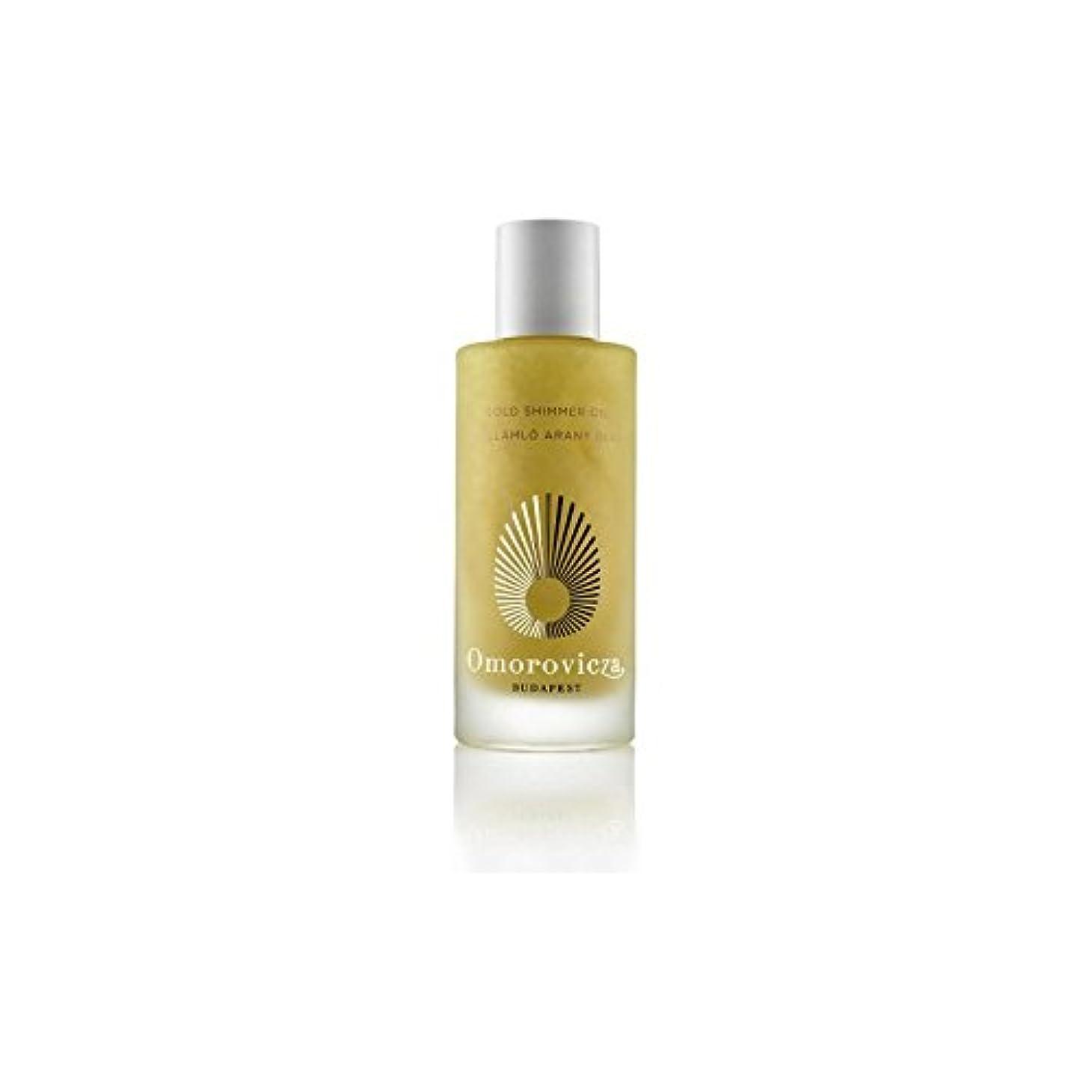 リール兵器庫十Omorovicza Gold Shimmer Oil (100ml) (Pack of 6) - ゴールドシマーオイル(100ミリリットル) x6 [並行輸入品]
