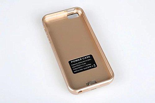 iPhone5 5S 対応 4000 mAh バッテリー iPhone5 5sバッテリー内蔵ケース充電ケース バッテリーケースPower Case (Gold)
