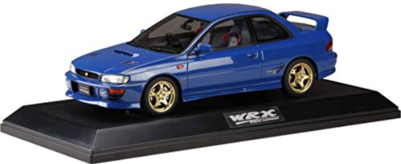 Hobby JAPAN 1/18 スバルインプレッサ WRX タイプR STi バージョンIV Vリミテッド (GC8) 1998 ソニックブルーマイカ 完成品