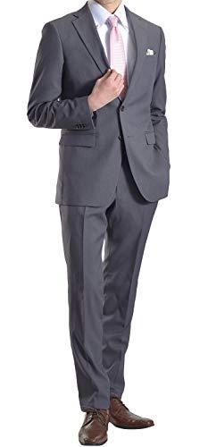 c5705051564213 【MARUTOMI】スリムスーツ メンズ ビジネス 2ツ釦 スリムフィット 秋冬 春夏 洗えるパンツウォッシャブル メンズスーツ ビジネススーツ 紳士  メンズ suit G:グレー ...