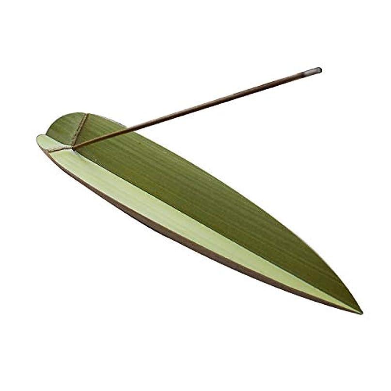 PHILOGOD 香炉 木竹の葉モデリング 香立て 色釉薬線香立て 香皿