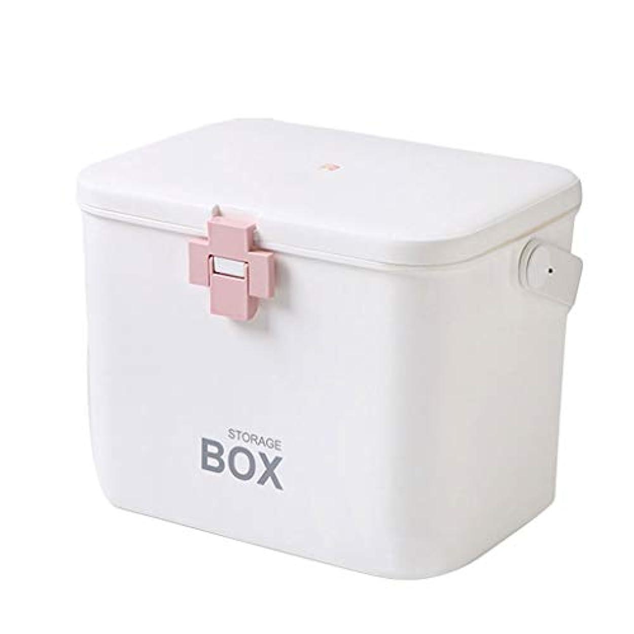 予約フェミニンいつでも大容量薬箱特大ポータブル家庭用子供多層薬箱収納ボックス HUXIUPING (Color : Pink)