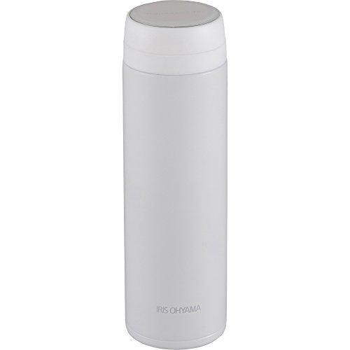 アイリスオーヤマ 水筒 ステンレスボトル マグボトル スクリュー 480ml ホワイトスペアパッキン付 MBS-480
