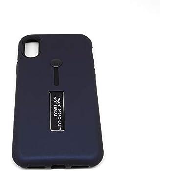 iPhone Xs・背面収納「バンカーベルト+スタンド」付き TPU + PC サブケース (BLACK)