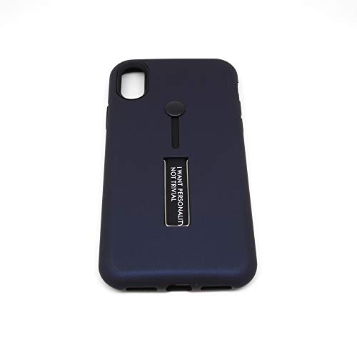 iPone Xs・背面収納「バンカーベルト+スタンド」付き TPU + PC サブケース (BLACK)