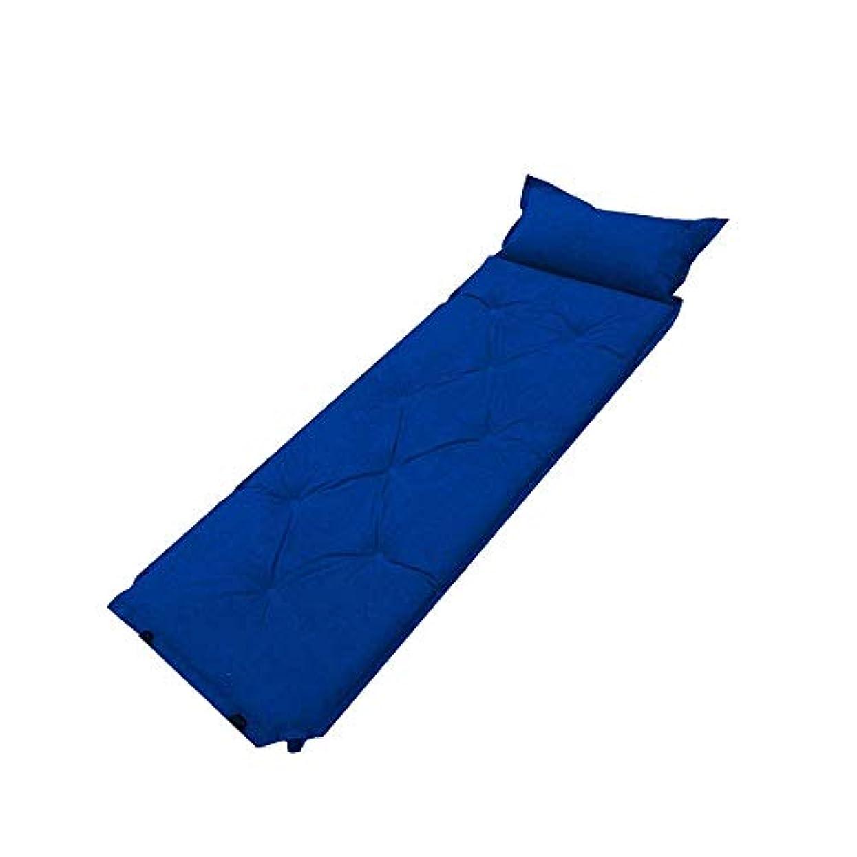 塩辛いアクセスできない副詞ZAQXSW 自動インフレータブルクッションダブルポータブル広がった厚い屋外防湿エアベッドポータブル家庭用テントスリーピングパッド (Color : Blue)