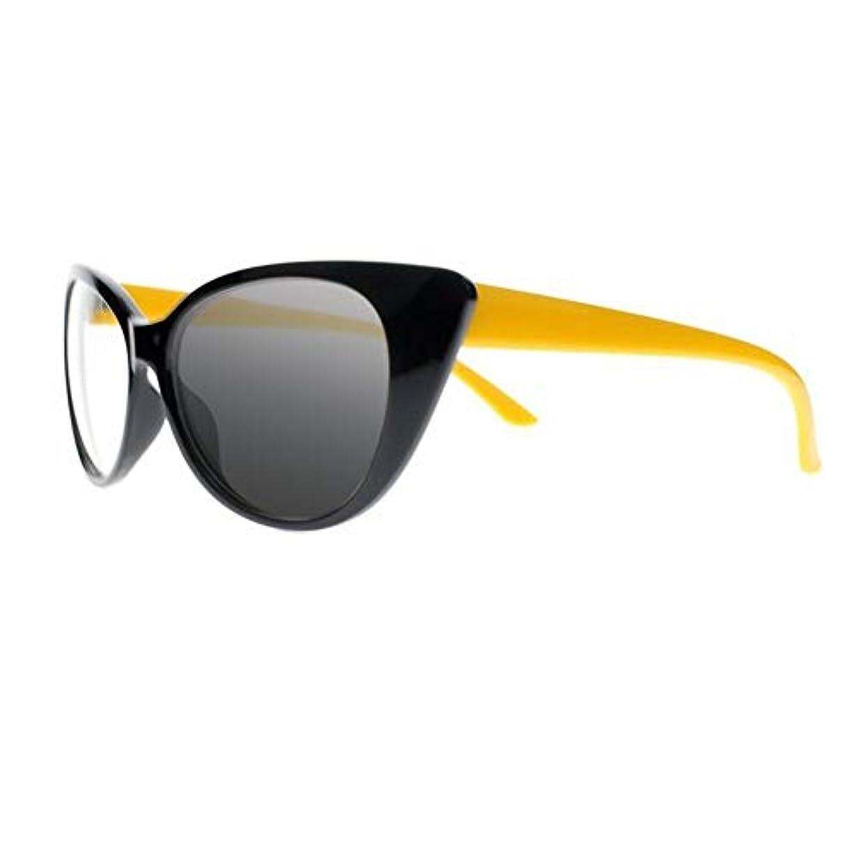 マイクロフォン決定的干渉FidgetGear 女性トランジションフォトクロミックサングラスリーダー老眼鏡+1.0?+4.0新 黄
