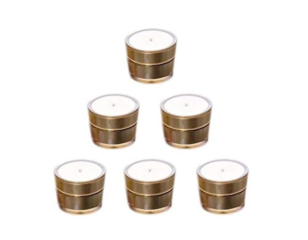 Bijou Cat クリーム用容器 クリームジャー容器 手作り化粧品容器 金色 5ml x 6個