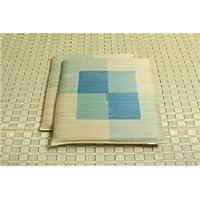 純国産/日本製 捺染千鳥 い草座布団 『蕪村(ぶそん) 2枚組』 ブルー 約55×55cm×2P
