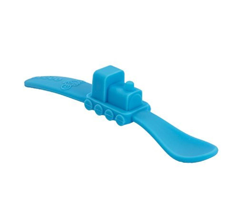 oogaa Baby Mealtime Train Spoon Blue [並行輸入品]