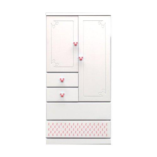 アルファタカバ ディズニー家具シリーズ シンプルミッキー 80cm幅ベビータンス ピンク