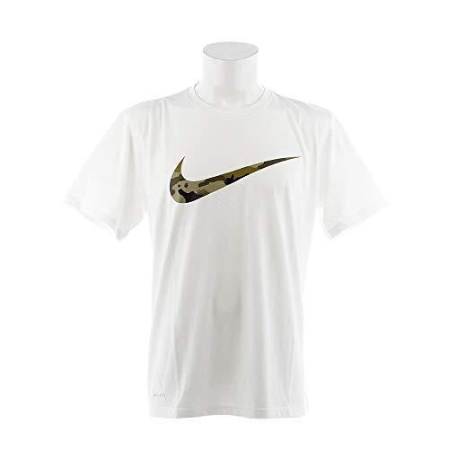 ナイキ(NIKE) DRI-FIT レジェンド カモ スウッシュ Tシャツ 923501 100 ホワイト/Nオリーブ L