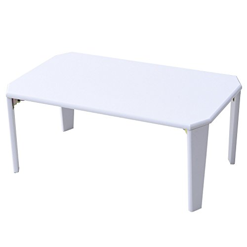 山善(YAMAZEN) 折れ脚 ローテーブル(75×50) ホワイト TWL-7550(WH)