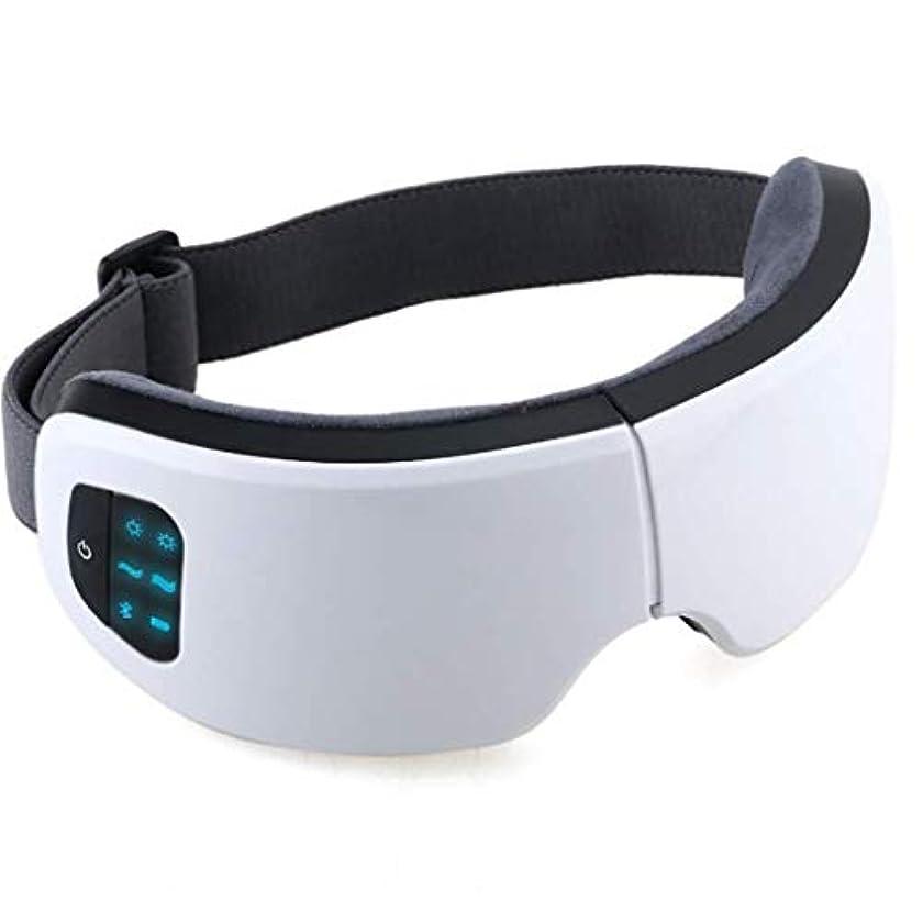 待つ雷雨防腐剤アイマッサージャー、音楽マッサージャー付き電動ポータブル指圧、加熱振動アイヘルスマッサージ、アイバッグダークサークルの改善、頭痛の緩和、スマートディスプレイ、充電式