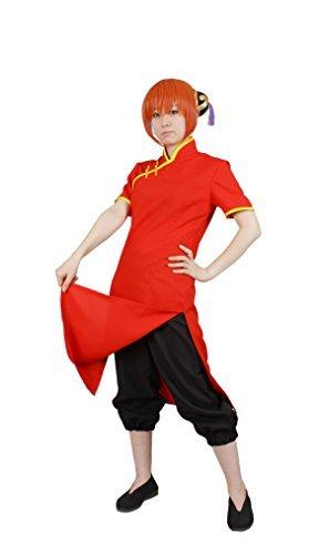 MilicaBooks 神楽 衣装 半袖 チャイナドレス カンフーパンツ 髪飾り付 Mサイズ 銀魂 コスプレ衣装