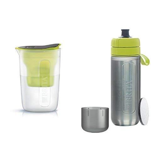ブリタ 浄水 ポット 1.0L ファン ライム + ブリタ 水筒 携帯用 浄水器 ボトル フィル&ゴー アクティブ ライム